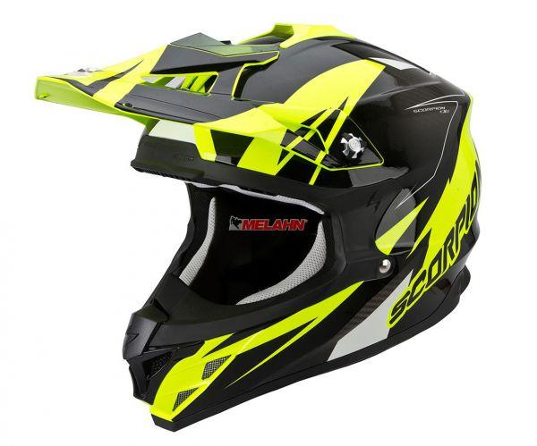 SCORPION Helm: VX-15 Evo Air Krush, neon-gelb/schwarz.