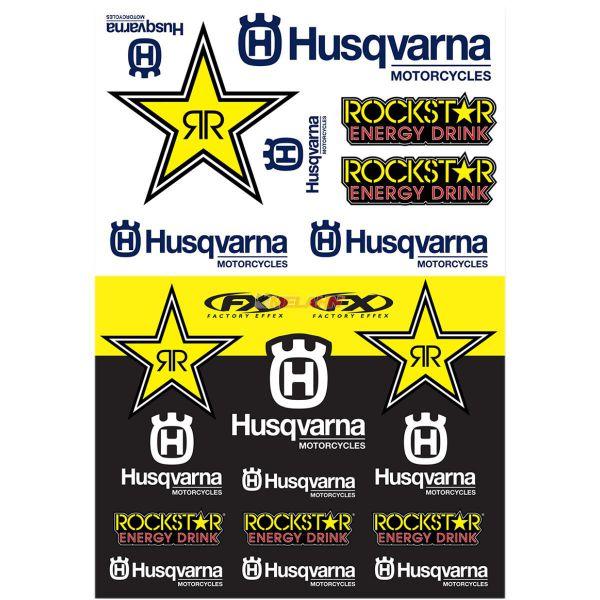 FX Generic Aufkleberkits: Rockstar HUSQVARNA Racing