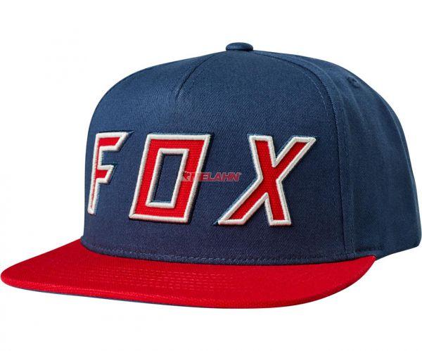 FOX Snapback Cap: Posessed, blau