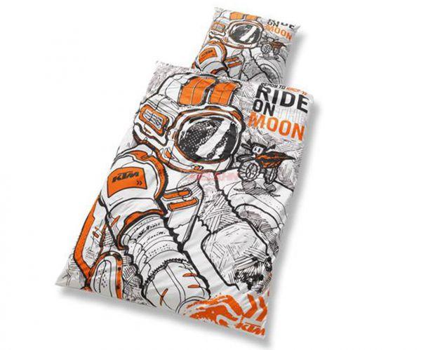 KTM Bettwäsche, weiß/schwarz/orange