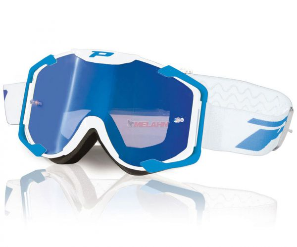 PROGRIP Brille: 3404 Multilayered, verspiegelt, weiß/blau