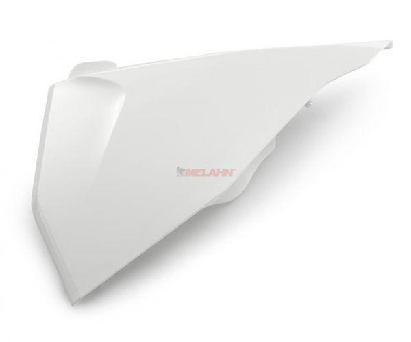 KTM Filterkastendeckel links SX 19-, weiß