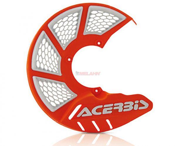 ACERBIS Kunststoff-Bremsscheibenschutz vorne: X-Brake 2.0 KTM/HVA 85, orange 2016/weiß