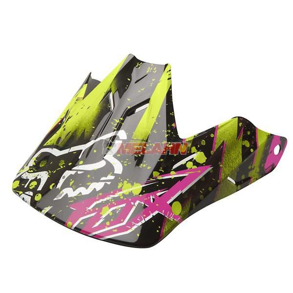 FOX Helmschirm: Visor V3 Riot, acid-green