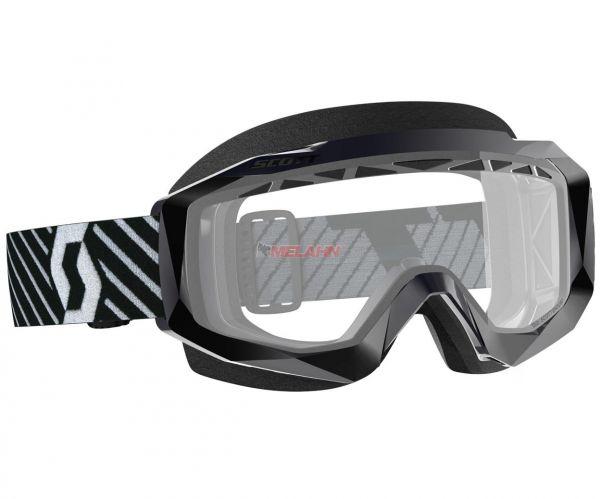 SCOTT Hustle OTG Enduro Goggle Motocross MTB MX Cross Brille, für Brillenträger, schwarz, Glas klar