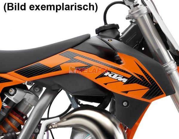 KTM Spoiler 65 SX (Paar) mit Dekor 11-15, orange, 2015