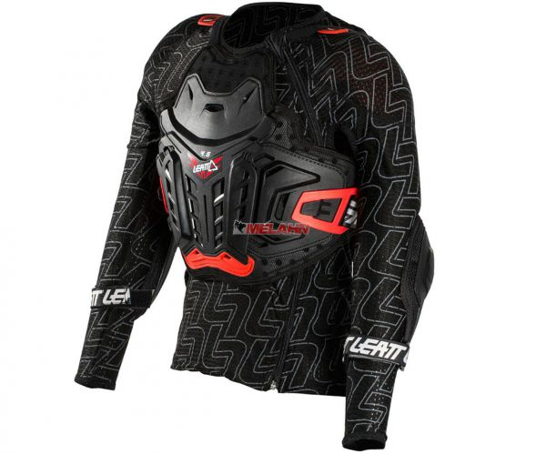 LEATT Kids Protektorenhemd: Body Protector 4.5 Junior, schwarz/rot