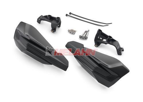 KTM Handprotektoren (Paar): MX IV ab 2014, Griffmontage, schwarz