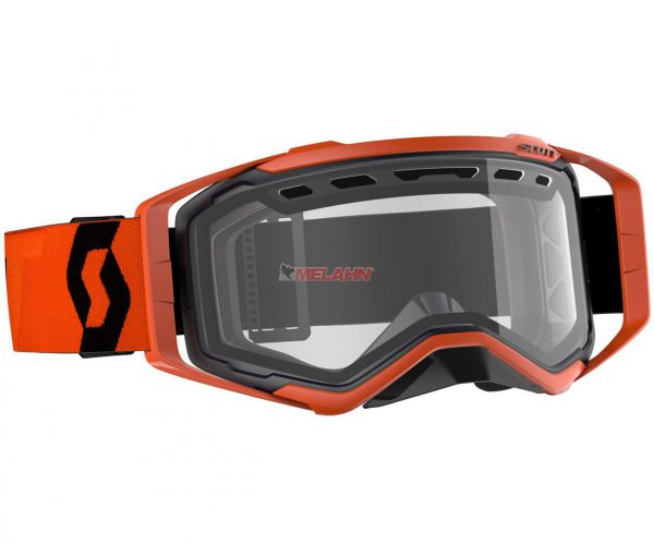 SCOTT Prospect Enduro Goggle Motocross MTB MX Cross Brille, schwarz/orange, klares Glas