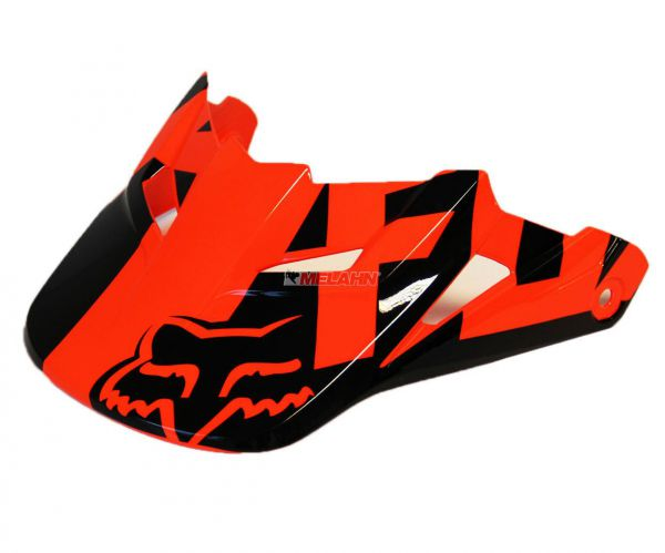 FOX Helmschirm: V1 Visor (2015) Race, orange