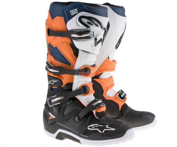 ALPINESTARS Stiefel: Tech 7, orange/blau
