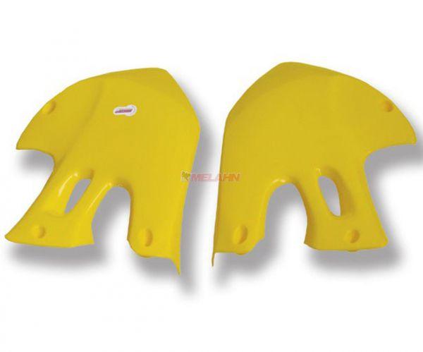 POLISPORT Spoiler (Paar) Kühlerverkleidung RM 125/250 99-00, gelb