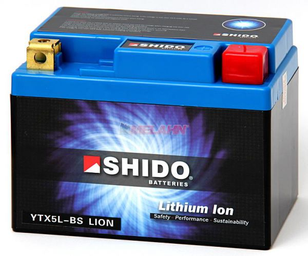 SHIDO Lithium Ion Batterie YTX5L-BS (YTX4L-BS)
