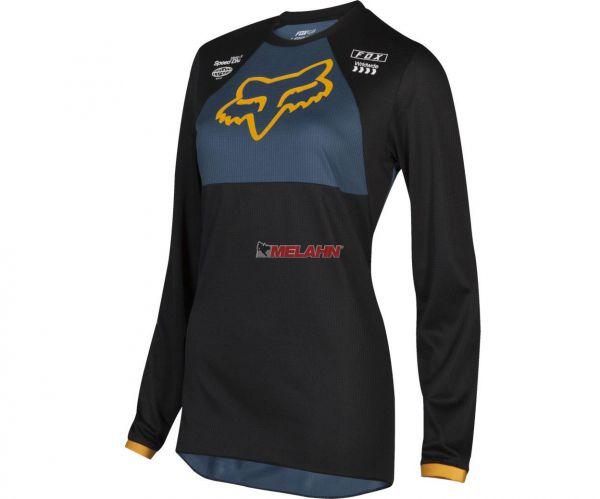 FOX Girls Jersey: 180 Mata, schwarz/blau/gelb