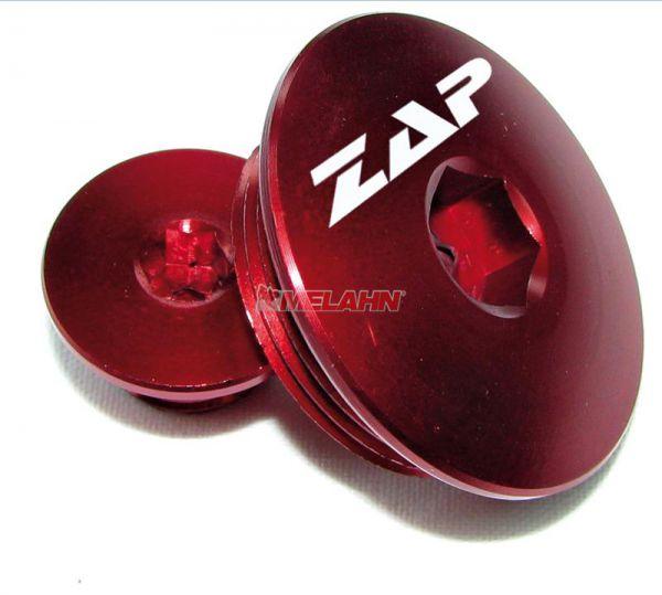 ZAP Aluminium-Motordeckel-Kit KXF 450 09-, KXF 250 04-, rot