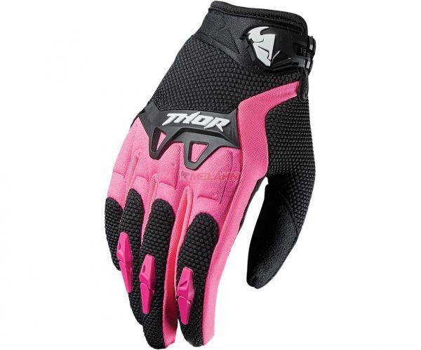 THOR Girls Handschuh: Spectrum, schwarz/pink