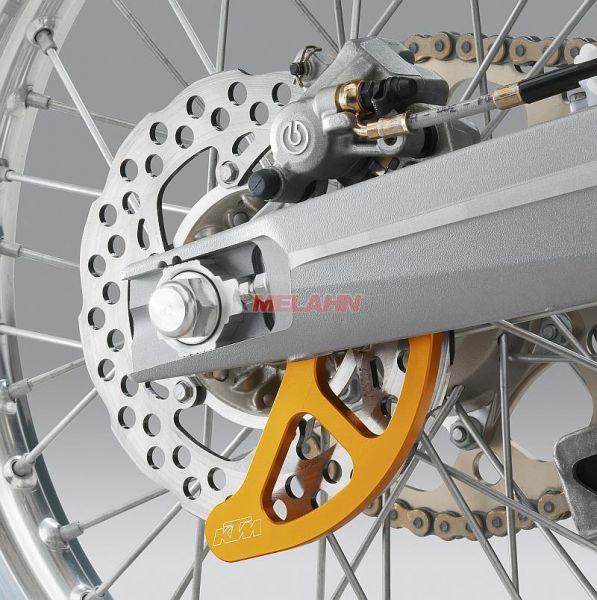KTM Aluminium-Bremsscheibenschutz hinten SX/EXC 04-, orange