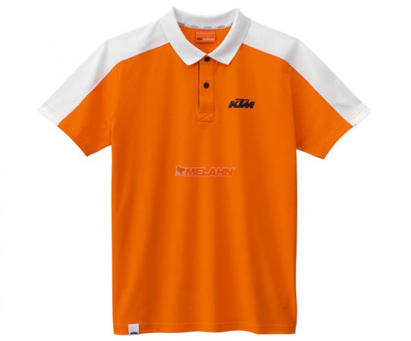 KTM Polo-Shirt: Corporate, orange/weiß