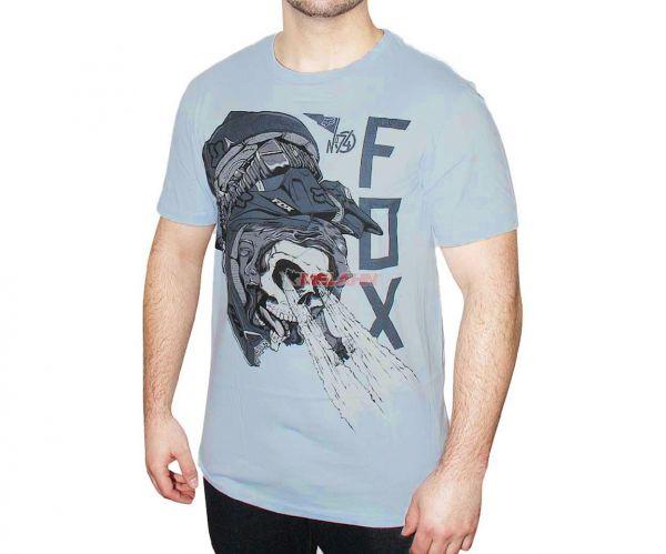FOX Premium T-Shirt: Gatefold, blau