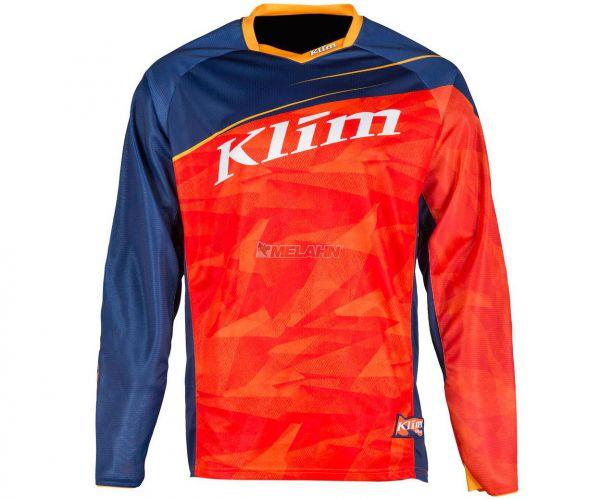 KLIM Jersey: Dakar, orange/blau