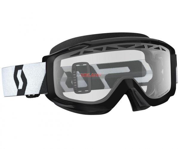 SCOTT Split OTG Enduro Goggle Motocross MTB MX Cross Brille, für Brillenträger, schwarz, klares Glas